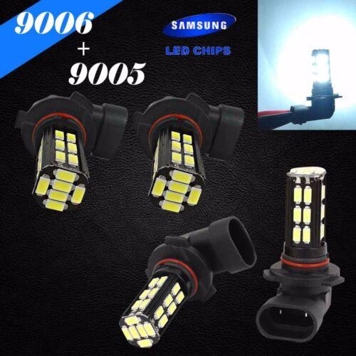 Combo 9006-HB4 9005-HB3 Samsung LED 30-SMD White Headlight Lamp Bulb Hi//Lo Beam