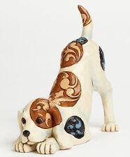 New Jim Shore Figurine Beagle Dog Playing Quilt Folk Art Terrier Heartwood Creek
