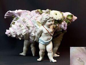 1840-superbe-jardiniere-pot-porcelaine-saxe-35cm3kg-Conche-rose-3-putti-angelot