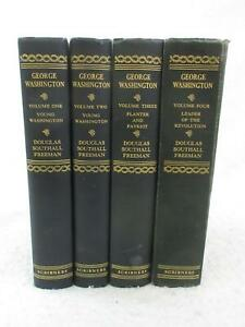 Douglas-Southall-Freeman-WASHINGTON-Vol-039-s-1-4-Scribner-039-s-1948-1951-First-Edition