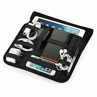 Easyacc Jhun Travel Cable Organizer With Laptop Sleeve Bag For Tablets, Ipad And