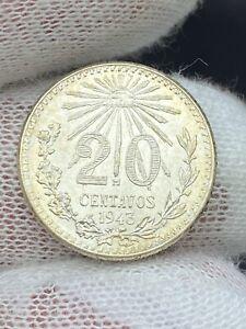 1943 Mexico 20 Centavos GEM BU
