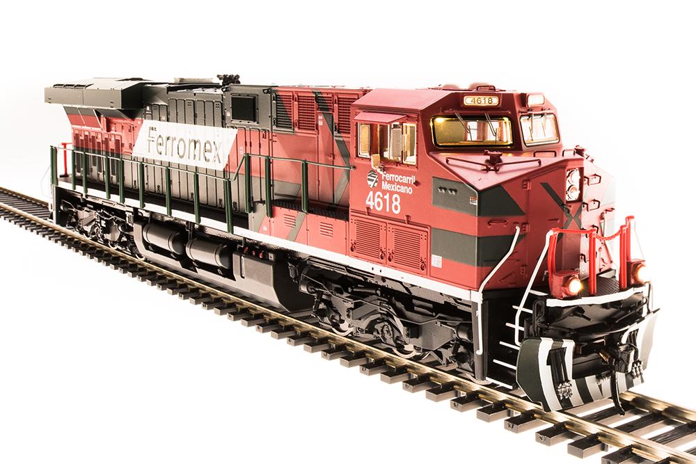Broadway Limited HO HO HO 5485 GE ES44AC, Ferromex 4647, rosso, verde, & bianca, Paragon3 dc0503