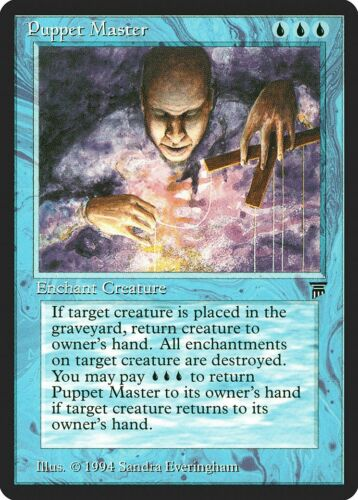 Puppet Master Legends NM-M Blue Uncommon MAGIC THE GATHERING MTG CARD ABUGames