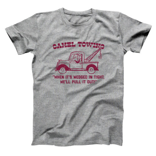 Camel Towing Company Funny Humor Rude Gray Basic Men/'s T-Shirt