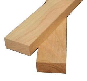4 Pcs 3//4 x 2 Cherry Lumber 3//4 x 2 x 24