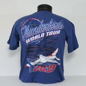 CLOSEOUT-USAF-Thunderbirds-2019-World-Tour-T-Shirt-in-2-colors
