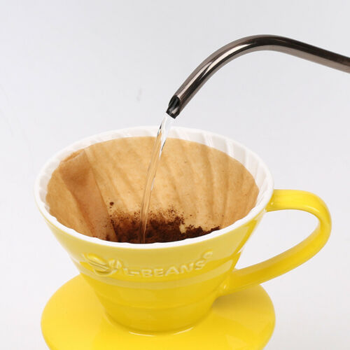 40PCS Coffee Filter Papers Unbleached Original Wooden Drip Paper Cone Shape Coff
