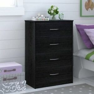 Mainstays Bedroom Storage Dresser Chest 4 Drawer Modern Wood ...