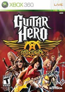 Guitar-Hero-Aerosmith-Microsoft-Xbox-360-Brand-New-Factory-SEALED-Video-Game-DLC