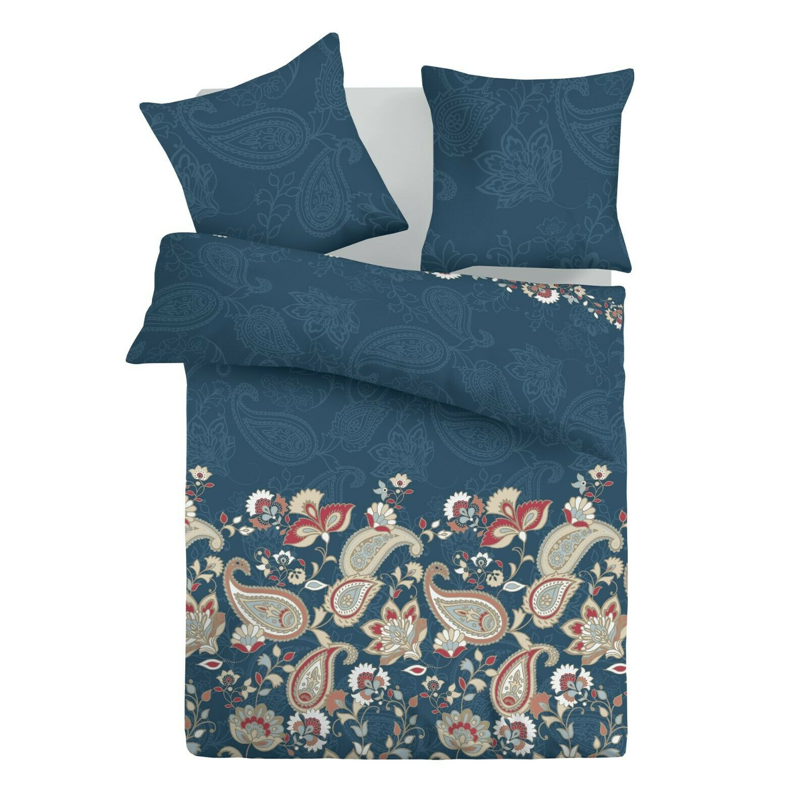 Olimpia - SoulBedroom 100% Cotton Bedding Set (Duvet Cover & Pillow Cases)