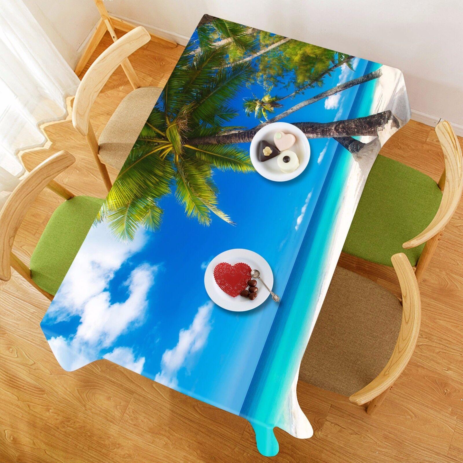 3D plage ciel Nappe Table Cover Cloth fête d'anniversaire AJ papier peint Royaume-Uni Citron