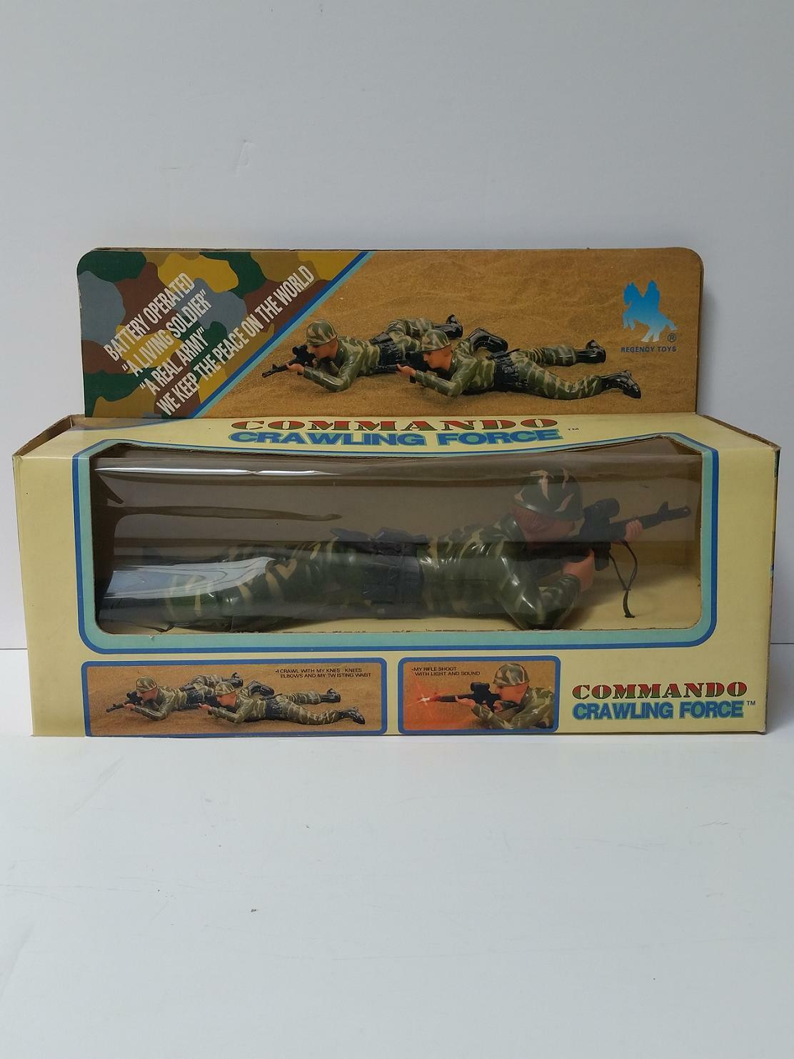 Vintage Regency Toys Commando Crawling Force Battery Battery Battery Operated AA 8d1cf8