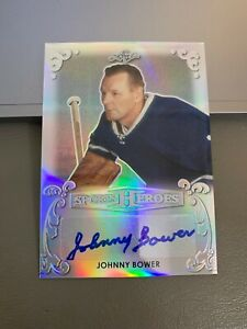 2017-Leaf-Sports-Heroes-Johnny-Bower-AUTO-Toronto-Maple-Leafs