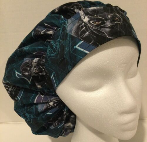 Black Panther Print Large Medical Bouffant Scrub Cap Surgery Hat