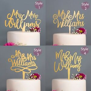 Personalised-Calligraphy-Mr-and-Mrs-Wedding-Cake-Topper-Gold-Silver-Rose-Gold