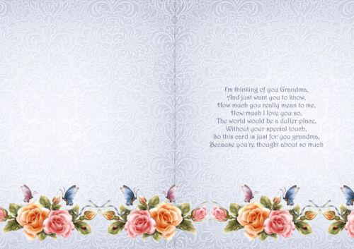 15 Rose design verse inserts or A6 Card
