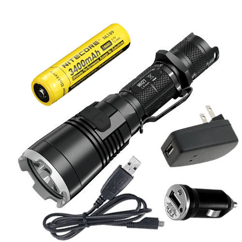 Nitecore MH27 Rechargeable Flashlight 1000 LuSies w USB Adaptors & NL189 Battery