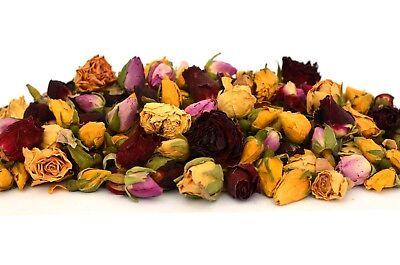 Collezione Qui Mix Boccioli Di Rose 100g Fiori Secchi, Asciugare Rose Craft Tè Potpourri Sapone Candela Decor-mostra Il Titolo Originale