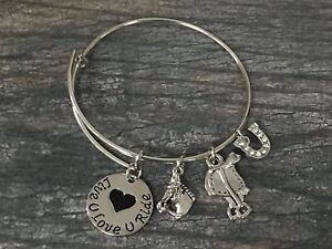 Horse-Charm-Bracelet-Cowgirl-Jewelry-Horse-Lovers-Equestrian-Bracelet