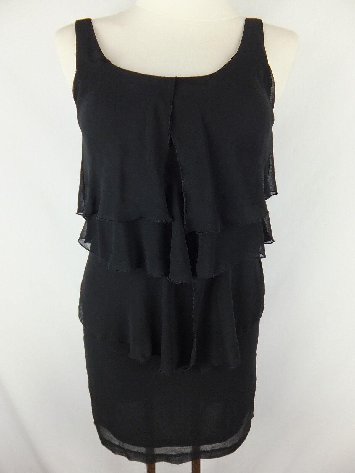 LAVAND Kleid  S 36  schwarz  neu m. Etikett   asymetrisch  Volants  Lagen Look