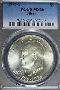 1976-S SILVER UNCIRCULATED EISENHOWER DOLLAR PCGS MS66