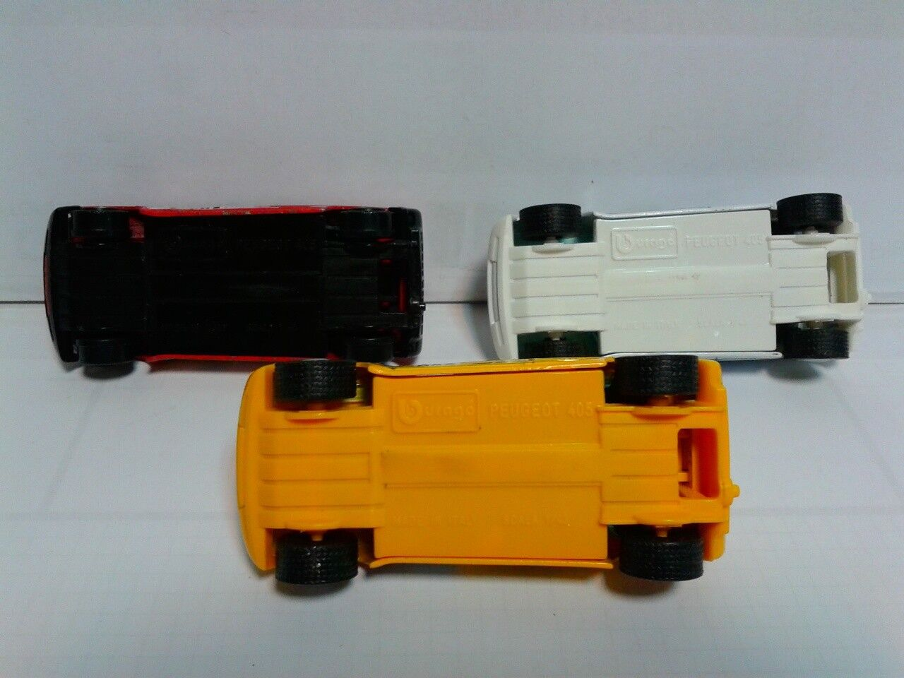 Set of 3 Burago Peugeot 405 TURBO 16 16 16 valorisated 1 43 no box 924db0