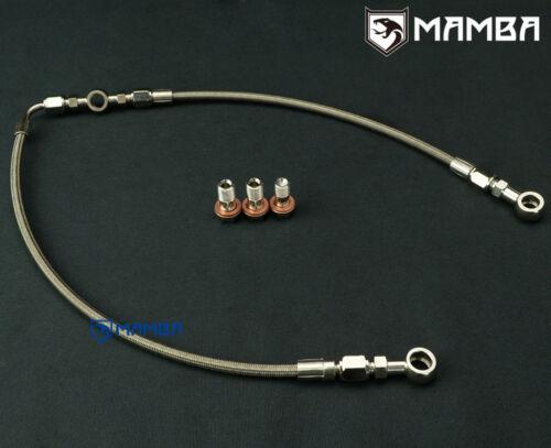 MAMBA AVCS Turbo Oil Feed Line 02~06 WRX 04~14 STI GT28R GT30R For Subaru