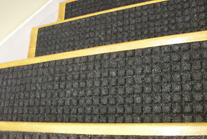 13 Step 100% Indoor Outdoor Stair Treads Non-Slip Staircase Rubber ...