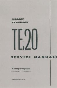 ferguson tractor te20 workshop manual petrol diesel ebay rh ebay co uk massey ferguson te20 workshop manual ferguson t20 workshop manual