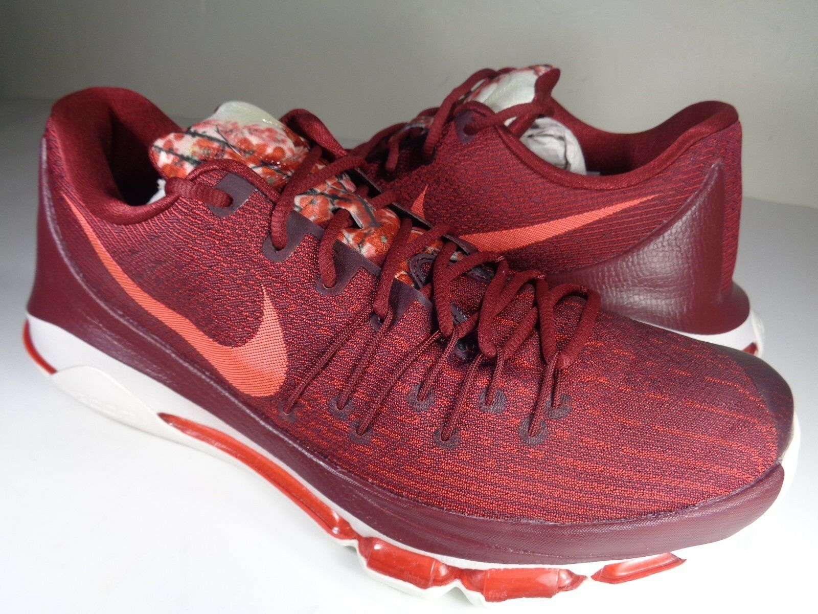 Nike KD 8 Team Red Bright Crimson Sail Very Rare SZ 11.5 (749375-661)