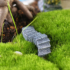 10x Fairy Garden Miniature Landscape Dollhouse Figurine Bonsai Stairs Grey