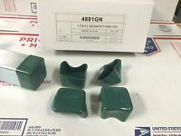 (4881gn) P2860-10 Plastic Green End Caps For Unistrut 1 5/8'' X 1 5/8'' 50/box
