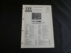 Anleitungen & Schaltbilder GroßZüGig Original Service Manual Itt Schaub Sl 73 Radio Recorder