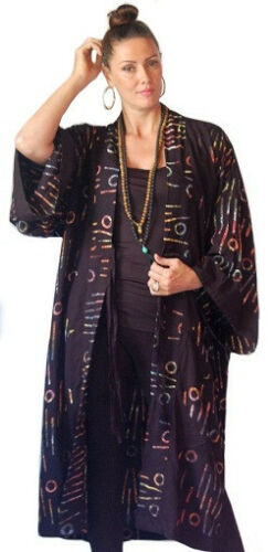 Lotustraders Batik Kimono Slips Order Jacket Made To Fashion H736 Kvinders Rayon 1qzCZq