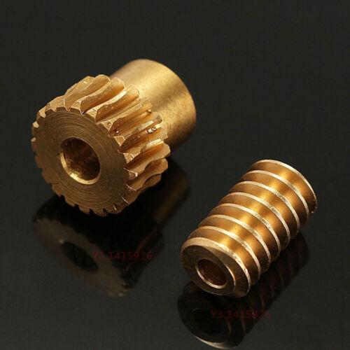 0.5 Modulus 1:10 Reduction Ratio 20Tooth Gear Motor Brass Copper Worm Wheel Gear