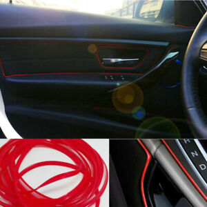 5M-Molding-Line-Car-Van-Interior-Decor-Red-Point-Edge-Gap-Door-Panel-Accessory