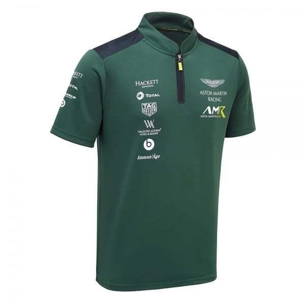 Aston Martin Racing Team Polo Shirt 2018 Sterling Green ADULT