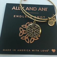 """ALEX AND ANI """"ENDLESS KNOT II"""" CHARM BRACELET IN RUSSIAN GOLD! AUTHENTIC! NWT!"""