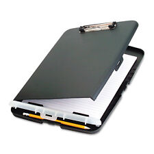 """Officemate 83303 Low Profile Storage Clipboard,0.5-Inch Capacity,Holds 9W x 12H Charcoal"""