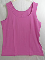 Women's Horseshoe Neckline Tank Top Regular & Plus Sizes In Vivid Berry