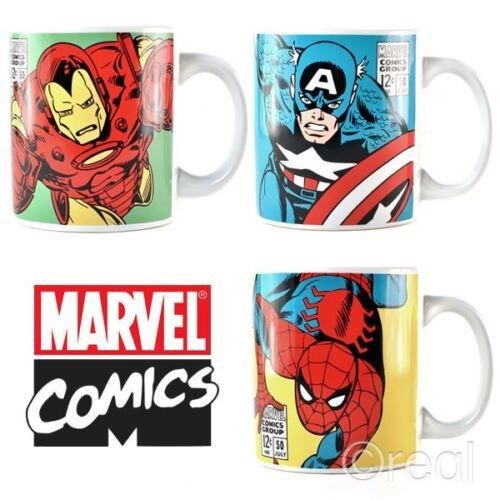 New Marvel Spiderman Captain America Or Iron Man Mug Coffee Retro Comic Official