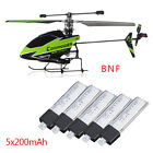 New WLtoys V911-1 4CH Helicopter Green BNF With 200mAh Batteries