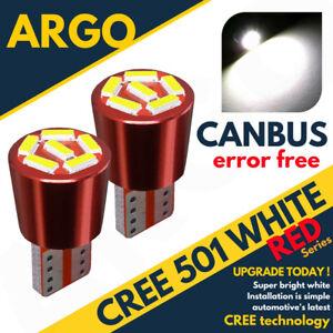 501-Super-Bright-Canbus-Cree-Led-Side-Light-W5w-T10-6-Smd-Xenon-White-Bulbs