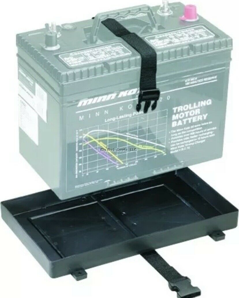 Attwood Battery Tray 27 Series 12-3/8L x 7-1/8W w/Buckle Strap 9093-5