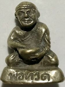 PHRA LP TUAD RARE OLD THAI BUDDHA AMULET PENDANT MAGIC ANCIENT IDOL#3
