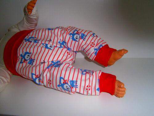 ♥ handmade ♥ porto KITZ ♥ Marine ♥ morbidose Pantaloni Pantaloni ♥ ♥ mitwachshose ♥ tg 50-104 ♥