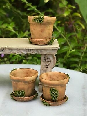 Miniature Dollhouse FAIRY GARDEN Garden Pots Set of 7 Assorted Accessories