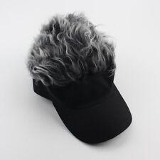 Funny Men Adjustable Flair Hair Visor Casquette Hat Golf Fashion Wig Cap a85d949758d0