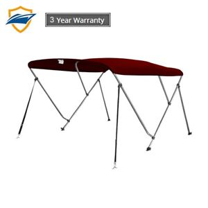 3 Bow Bimini Boat Top Cover With Storage Boot Color